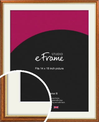 Retro Brown Picture Frame & Mount, 14x18