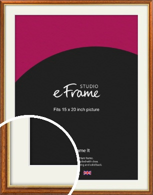 Retro Brown Picture Frame & Mount, 15x20