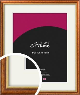 Retro Brown Picture Frame & Mount, 20x25cm (8x10