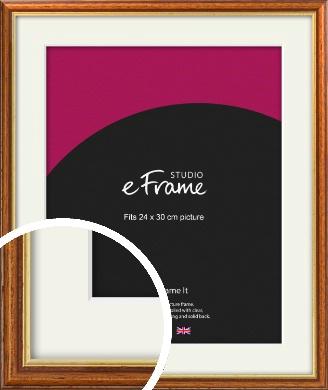 Retro Brown Picture Frame & Mount, 24x30cm (VRMP-166-M-24x30cm)