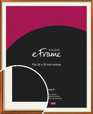 Retro Brown Picture Frame & Mount, 24x30