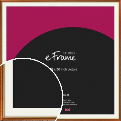Retro Brown Picture Frame & Mount, 30x30