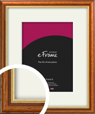 Retro Brown Picture Frame & Mount, 4.5x6