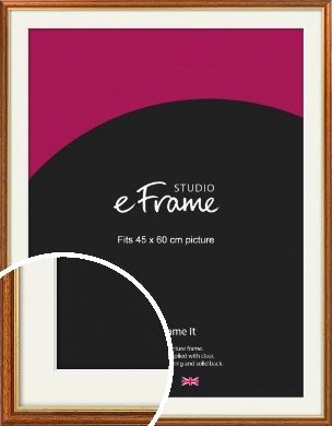 Retro Brown Picture Frame & Mount, 45x60cm (VRMP-166-M-45x60cm)