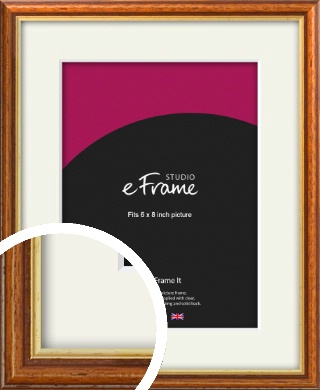 Retro Brown Picture Frame & Mount, 6x8