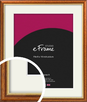 Retro Brown Picture Frame & Mount, 8x10