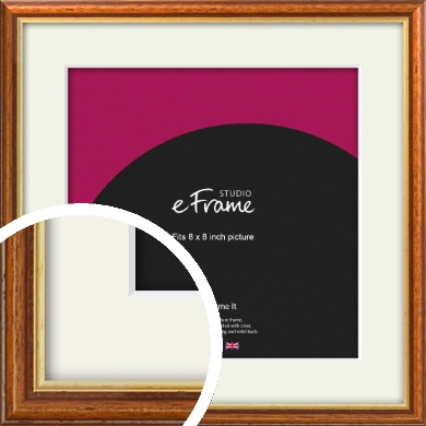 Retro Brown Picture Frame & Mount, 8x8