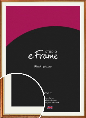 Retro Brown Picture Frame & Mount, A1 (594x841mm) (VRMP-166-M-A1)