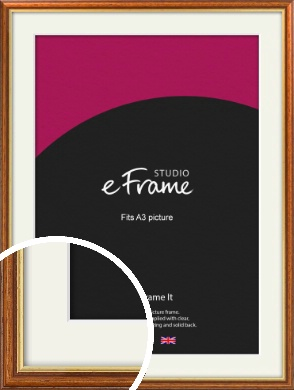 Retro Brown Picture Frame & Mount, A3 (297x420mm) (VRMP-166-M-A3)