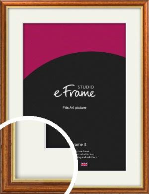 Retro Brown Picture Frame & Mount, A4 (210x297mm) (VRMP-166-M-A4)