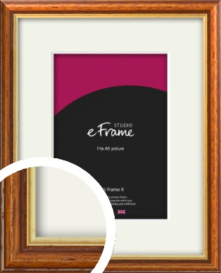 Retro Brown Picture Frame & Mount, A6 (105x148mm) (VRMP-166-M-A6)