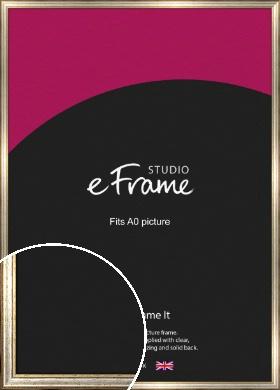 Champagne Gold Fleck & Silver Picture Frame, A0 (841x1189mm) (VRMP-202-A0)