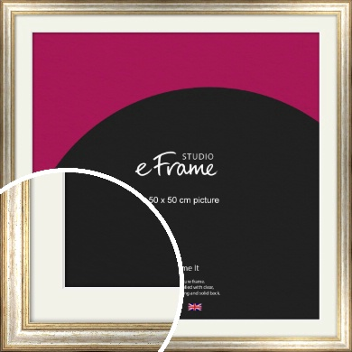Champagne Gold Fleck & Silver Picture Frame & Mount, 50x50cm (VRMP-202-M-50x50cm)