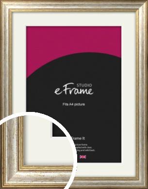 Champagne Gold Fleck & Silver Picture Frame & Mount, A4 (210x297mm) (VRMP-202-M-A4)
