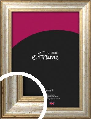 Champagne Gold Fleck & Silver Picture Frame (VRMP-202)
