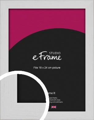 Deep Classic White Picture Frame, 18x24cm (VRMP-1254-18x24cm)