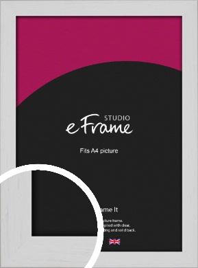 Deep Classic White Picture Frame, A4 (210x297mm) (VRMP-1254-A4)