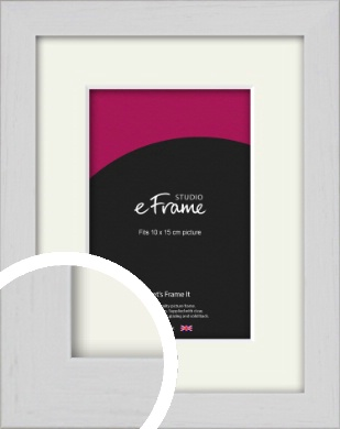 Deep Classic White Picture Frame & Mount, 10x15cm (4x6