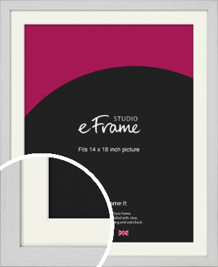 Deep Classic White Picture Frame & Mount, 14x18