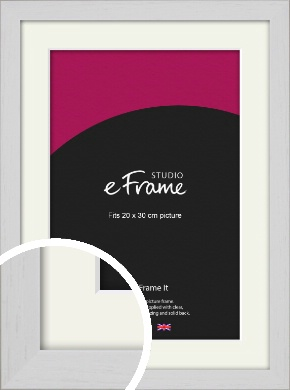 Deep Classic White Picture Frame & Mount, 20x30cm (8x12