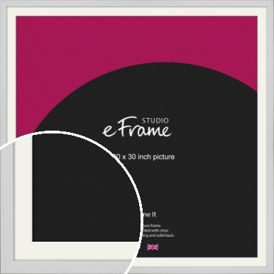 Deep Classic White Picture Frame & Mount, 30x30