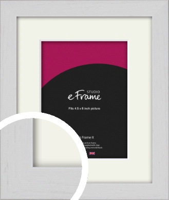 Deep Classic White Picture Frame & Mount, 4.5x6