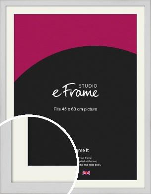 Deep Classic White Picture Frame & Mount, 45x60cm (VRMP-1254-M-45x60cm)