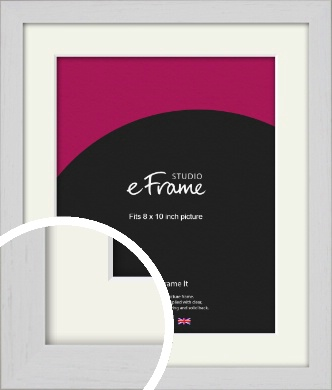 Deep Classic White Picture Frame & Mount, 8x10