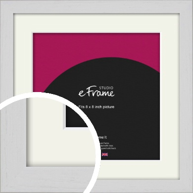 Deep Classic White Picture Frame & Mount, 8x8