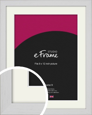 Deep Classic White Picture Frame & Mount, 9x12
