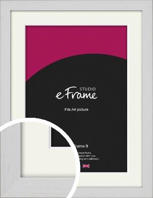 Deep Classic White Picture Frame & Mount, A4 (210x297mm) (VRMP-1254-M-A4)