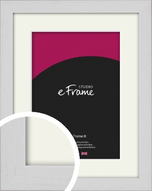 Deep Classic White Picture Frame & Mount (VRMP-1254-M)