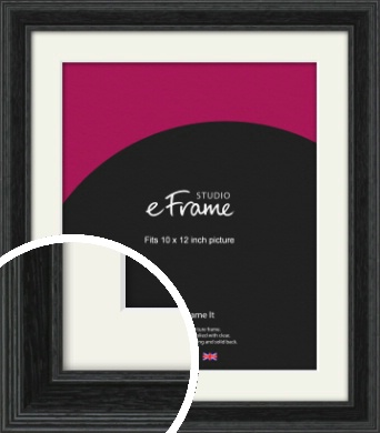 Stepped Grain Black Picture Frame & Mount, 10x12