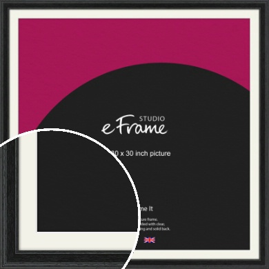 Stepped Grain Black Picture Frame & Mount, 30x30