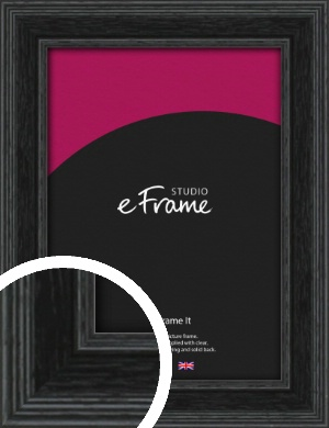 Stepped Grain Black Picture Frame (VRMP-1257)