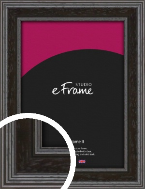 Detailed Stepped Brown Picture Frame (VRMP-1258)