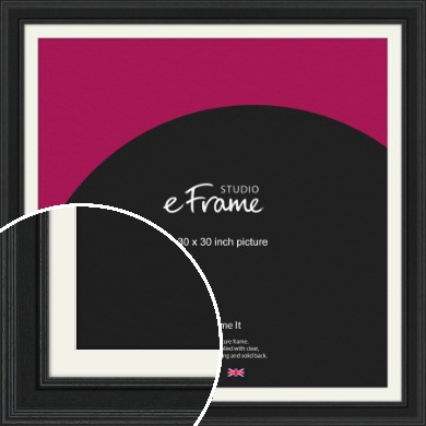 Steppped Black Picture Frame & Mount, 30x30