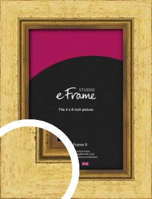 Opulent Gold Picture Frame, 4x6