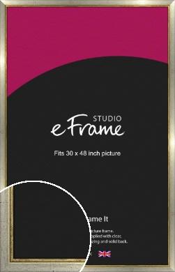 Retro Silver Picture Frame, 30x48