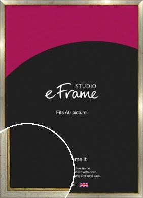 Retro Silver Picture Frame, A0 (841x1189mm) (VRMP-188-A0)
