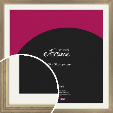 Distressed Brown Picture Frame & Mount, 50x50cm (VRMP-353-M-50x50cm)
