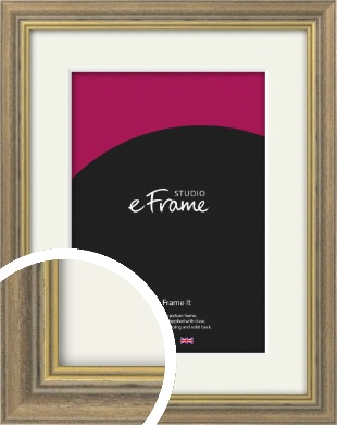 Distressed Brown Picture Frame & Mount (VRMP-353-M)