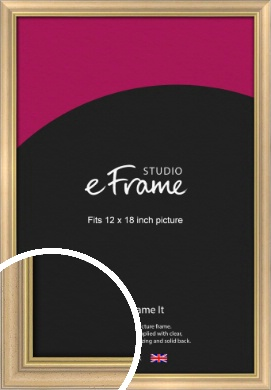 Welcoming Natural Wood Picture Frame, 12x18