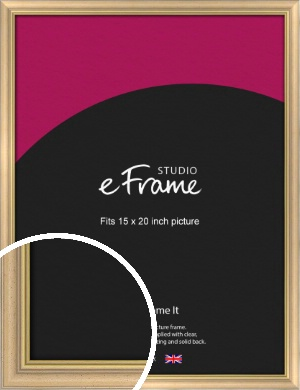 Welcoming Natural Wood Picture Frame, 15x20