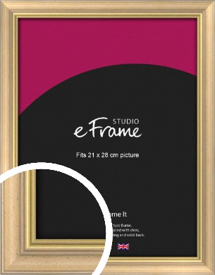 Welcoming Natural Wood Picture Frame, 21x28cm (VRMP-357-21x28cm)