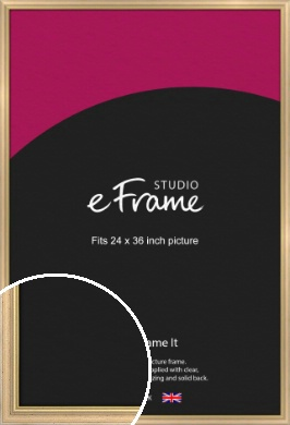 Welcoming Natural Wood Picture Frame, 24x36