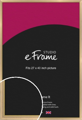 Welcoming Natural Wood Picture Frame, 27x40