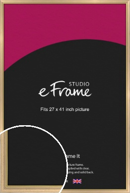 Welcoming Natural Wood Picture Frame, 27x41