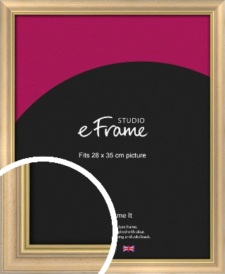Welcoming Natural Wood Picture Frame, 28x35cm (VRMP-357-28x35cm)