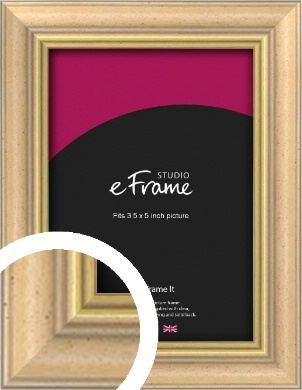 Welcoming Natural Wood Picture Frame, 3.5x5